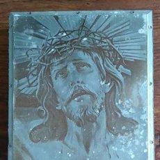 Arte: ANTIGUA PLANCHA SOBRE MADERA PARA IMPRIMIR LA IMAGEN DEL SANTO CRISTO DE LIMPIAS CANTABRIA. Lote 86452256