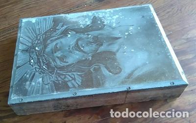 Arte: ANTIGUA PLANCHA SOBRE MADERA PARA IMPRIMIR LA IMAGEN DEL SANTO CRISTO DE LIMPIAS CANTABRIA - Foto 2 - 86452256