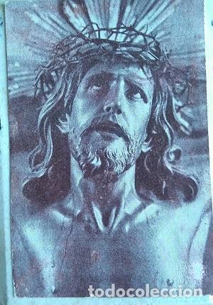 Arte: ANTIGUA PLANCHA SOBRE MADERA PARA IMPRIMIR LA IMAGEN DEL SANTO CRISTO DE LIMPIAS CANTABRIA - Foto 3 - 86452256