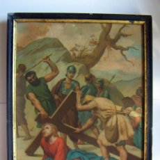 Arte: COLECCION DE 14 CROMOLITOGRAFIAS DE LAS 14 ESTACIONES DEL VIACRUCIS DE L.TURGIS PARIS. Lote 86456792