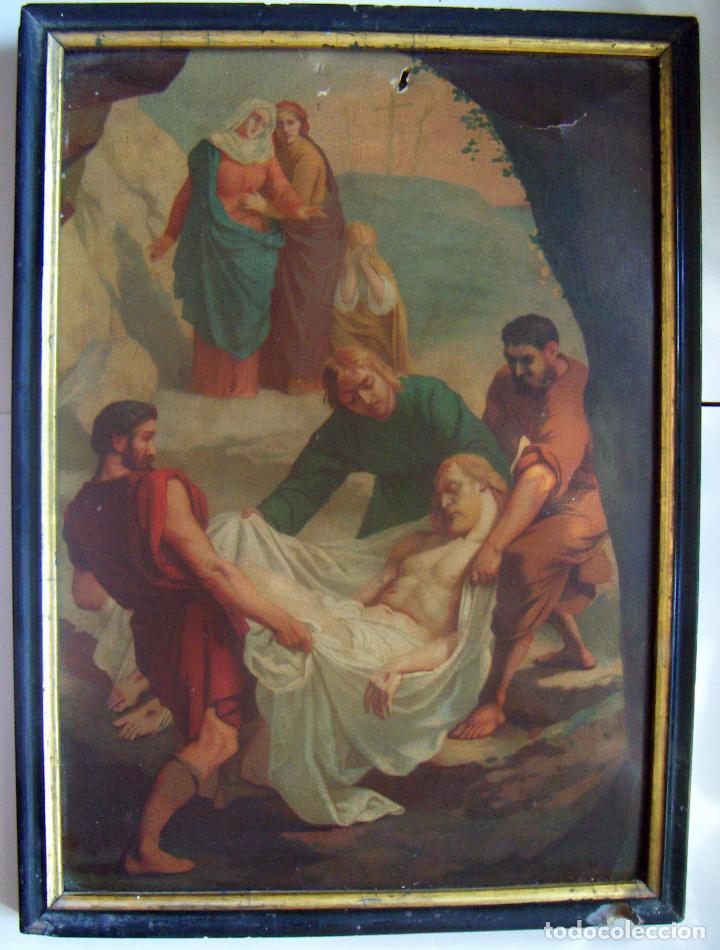 Arte: Coleccion de 14 cromolitografias de las 14 estaciones del viacrucis de L.Turgis Paris - Foto 6 - 86456792
