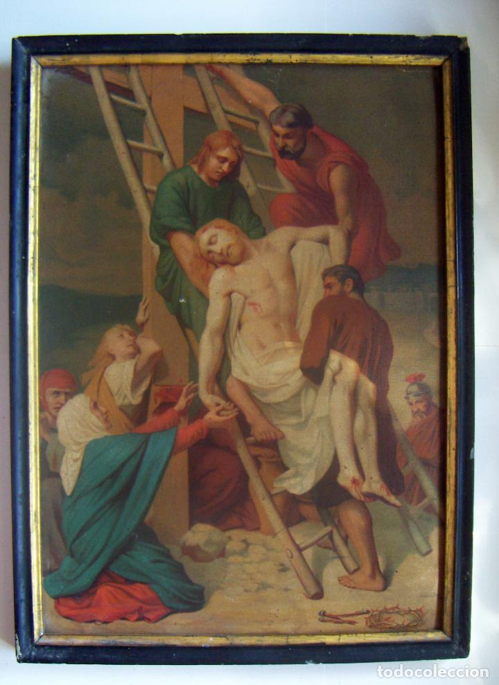 Arte: Coleccion de 14 cromolitografias de las 14 estaciones del viacrucis de L.Turgis Paris - Foto 10 - 86456792