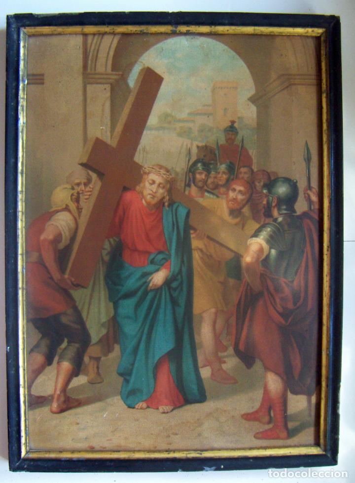 Arte: Coleccion de 14 cromolitografias de las 14 estaciones del viacrucis de L.Turgis Paris - Foto 20 - 86456792