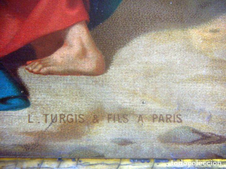 Arte: Coleccion de 14 cromolitografias de las 14 estaciones del viacrucis de L.Turgis Paris - Foto 23 - 86456792