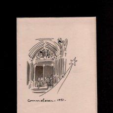 Arte: C2-4 JOAN COMMELERAN - ACUARELA CON DEDICATORIA MANUSCRITA. EJEMPLAR ÚNICO EN FELICITACION PARA LA. Lote 86480136