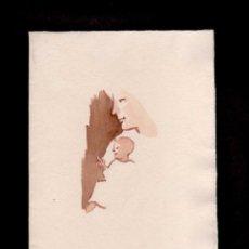 Arte: C2-9 JOAN COMMELERAN - ACUARELA CON DEDICATORIA MANUSCRITA. EJEMPLAR UNICO EN FELICITACION PARA LA N. Lote 86480844