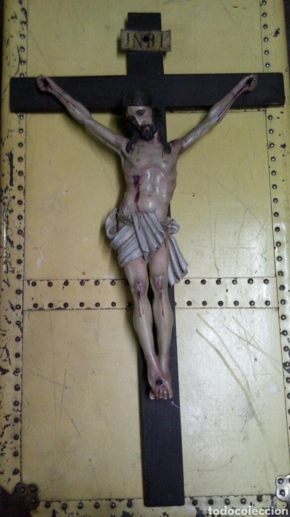 CRISTO MADERA POLICROMADA.S XIX (Arte - Arte Religioso - Escultura)