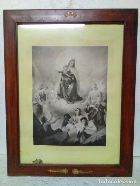 MARCO CON CRISTAL CON GRABADO AL ACERO (Arte - Arte Religioso - Grabados)
