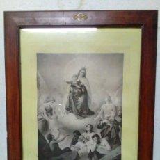 Arte: MARCO CON CRISTAL CON GRABADO AL ACERO. Lote 86613176