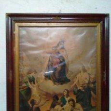 Arte: ANTIGUA LAMINA LITOGRAFICA ENMARCADA DE EPOCA CON CRISTAL. Lote 86613592