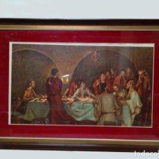 Arte: LAMINA DE CENA MUY PARTICULAR ENMARCADA CON CRISTAL.. Lote 86613856
