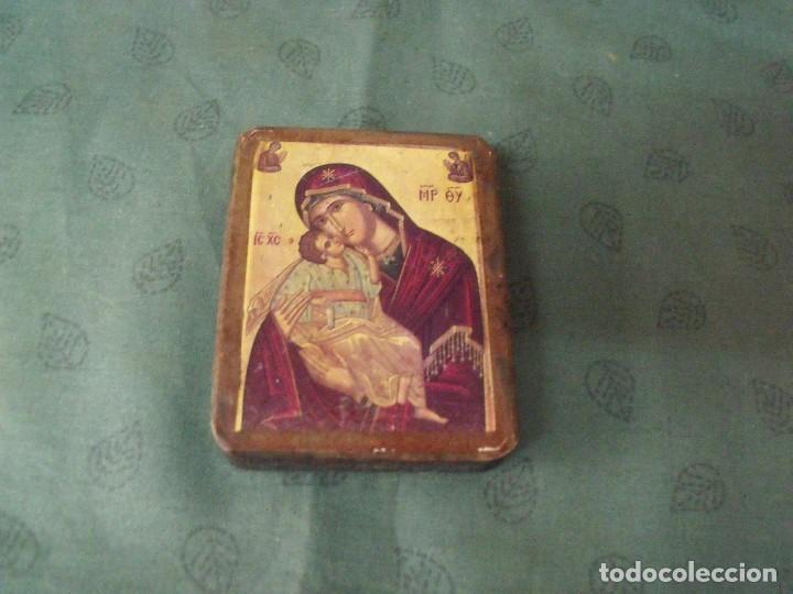 Arte: antiguo Icono de la virgen año 30-40 en madera - Foto 2 - 86617008