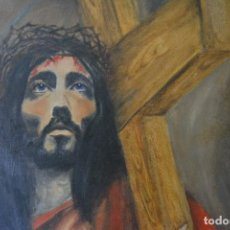 Arte: CRISTO ÓLEO SOBRE LIENZO. Lote 86628280