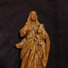 Arte - extraordinaria virgen estilo renacimiento español, castaño - 86668112