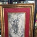 Arte: MAGNIFICA PINTURA A LAPIZ SOBRE LA CORONACION DE LA VIRGEN - MEDIDA MARCO 81X63,5 CM Y PINTURA 51X33. Lote 156876304