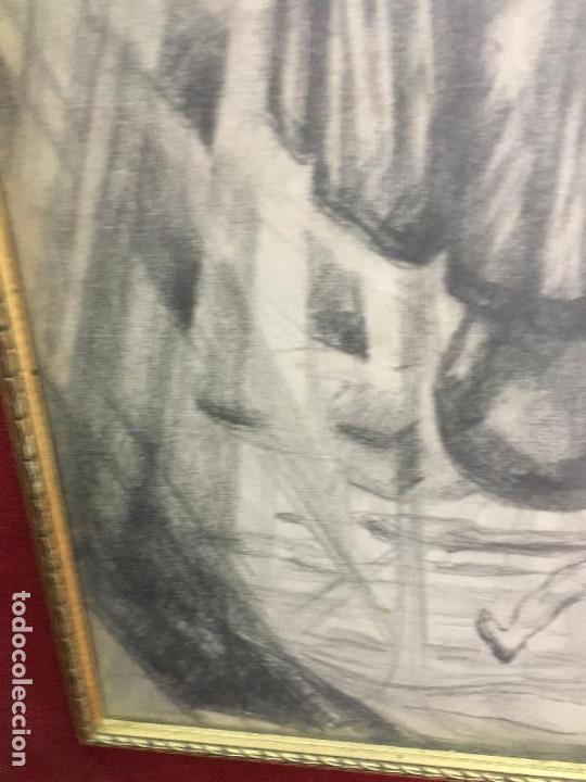 Arte: MAGNIFICA PINTURA A LAPIZ SOBRE LA CORONACION DE LA VIRGEN - MEDIDA MARCO 81X63,5 CM Y PINTURA 51X33 - Foto 5 - 156876304