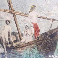 Arte: LAS TRES SANTAS MARIAS. ANTIGUO GRABADO FRANCES, ENMARCADO. Lote 86764924