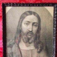 Arte: ANTIGUO GRABADO RELIGIOSO DE LA SOCIETÁ ARTISTICA ROMANA. SAGRADO CORAZÓN.. Lote 86795740