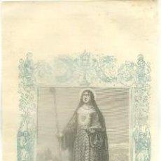 Arte: LITOGRAFIA RELIGIOSA: SANTA GERTRUDIS. LA MAGNA, VIRGEN G-REL-255. Lote 86815112