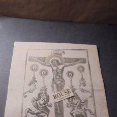 Arte: ANTIGUO GRABADO MITAD SIGLO XIX - EL SANTO CRISTO - 22X16 CM. . Lote 86817160