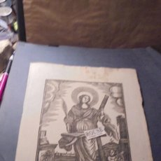 Arte: ANTIGUO GRABADO POPULAR FINAL S.XVIII PRINCIPIO S. XIX STA. EULALIA VIRGEN Y MARTIR - 32X22 CM. . Lote 86820268