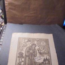 Arte: ANTIGUO GRABADO POPULAR FINAL S.XVIII PRINCIPIO S. XIX SAN FRANCISCO DE PAULA - 32X22 CM. . Lote 86820396