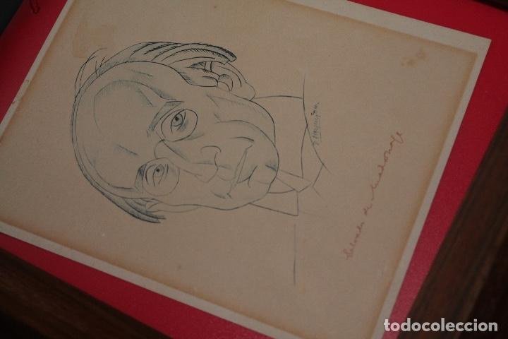 Arte: VÁZQUEZ DÍAZ, RETRATO DE Salvador de Madariaga, DIBUJO ORIGINAL EN PAPEL, FIRMADO, 16,5 X 13 CTM. - Foto 4 - 86869480
