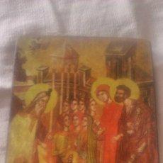 Arte: PEQUEÑO CUADRO RELIGIOSO LAMINA PEGADA EN MADERA.. Lote 86876452