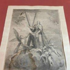 Arte: SANTA EULALIA. GRABADO/PAPEL. JOSEPH FLAUGIER / AGUSTÍN SELLENT. ESPAÑA. S. XVIII. Lote 86918712