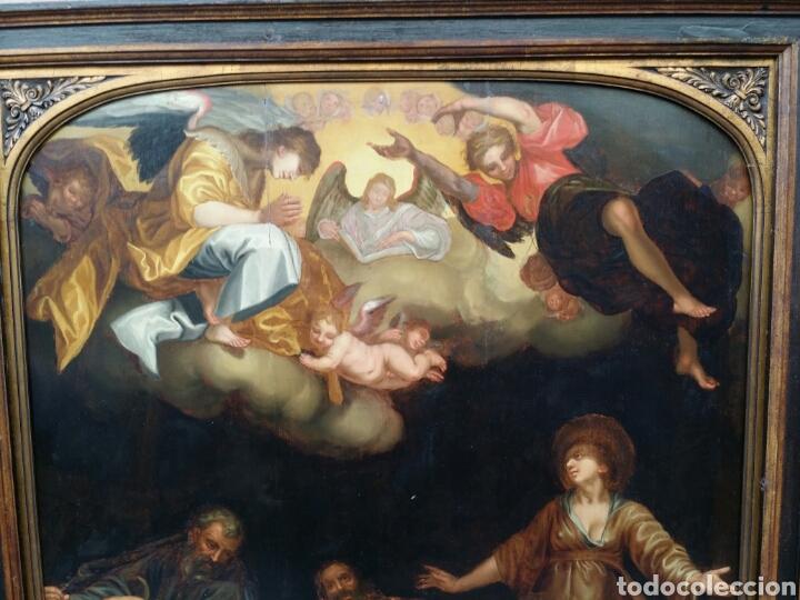 Arte: ADORACIÓN DE LOS PASTORES SIGLO XVII ESTILO MANIERISMO RENACENTISTA CAMINO DEL BARROCO ÓLEO - Foto 3 - 86981507