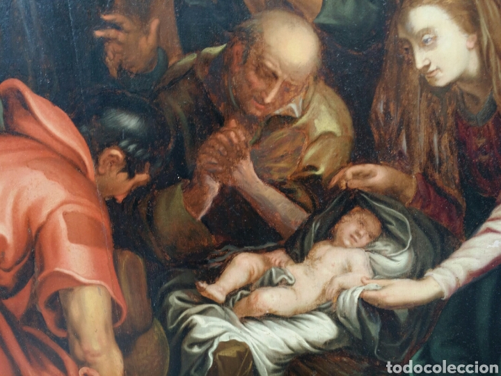 Arte: ADORACIÓN DE LOS PASTORES SIGLO XVII ESTILO MANIERISMO RENACENTISTA CAMINO DEL BARROCO ÓLEO - Foto 4 - 86981507