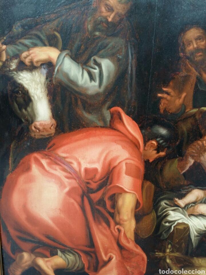 Arte: ADORACIÓN DE LOS PASTORES SIGLO XVII ESTILO MANIERISMO RENACENTISTA CAMINO DEL BARROCO ÓLEO - Foto 6 - 86981507