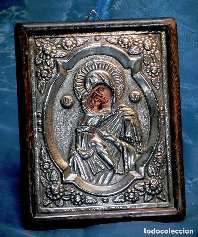 bonito icono religioso - metal repujado - virge - Comprar Iconos ...