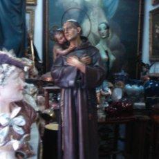 Arte: SAN ANTONIO Y EL NIÑO JESÚS ESTUCO DE OLOT. Lote 87038112