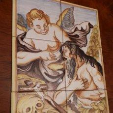 Arte: SAN ONOFRE. MURAL CERAMICA,PINTADO MANO, 6 BALDOSAS 15X15, 45X30 CMS.. Lote 87061736