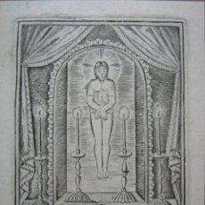 Arte: VALLADOLID GRABADO INDULGENCIA - SANTO SUDARIO DE JESUCRISTO MAS MILAGROSO DE ESPAÑA 1ª S.XIX. Lote 87130920
