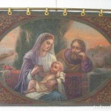 Arte: ANTIGUO ÓLEO SOBRE TAPIZ - TELA - SAGRADA FAMILIA - CON BARRA DE LATÓN - PRINCIPIOS S. XX. Lote 87203532