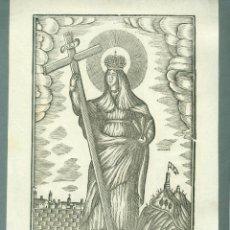 Arte: GRABADO SANTA ELENA GRABADO A LA MADERA ORIGINAL PRIMERA MITAD S XIX MANRESA POR PABLO ROCA. Lote 87266612