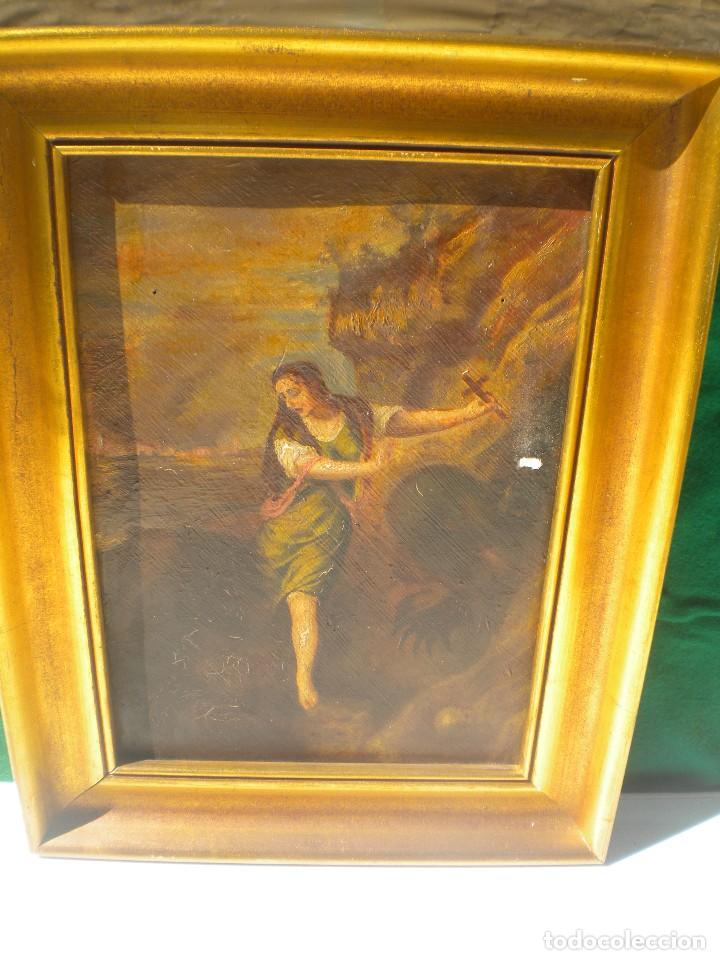 EXCELENTE PINTURA DE MARÍA MAGDALENA (Arte - Arte Religioso - Pintura Religiosa - Otros)