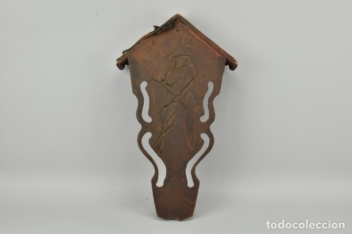 Arte: antigua capilla madera tallada art deco año1928 medidas 51x31x7 cm figuras porcelana 152,00 € - Foto 9 - 87403332