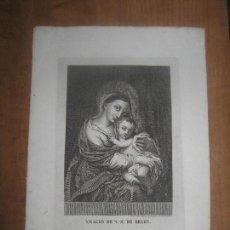Arte: GRABADO DEL SIGLO XIX DE JOSE MARIA MARTIN - 1830 - IMAGEN NTRA SRA DE BELEN - MIDE 21X31 TOTAL. Lote 87442724