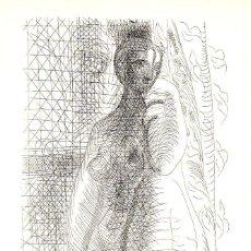 Arte: PABLO PICASSO , LITOGRAFIA ORIGINAL SUITE VOLLARD EDICION 1956 , COA , CERTIFICADO AUTENTICIDAD. Lote 141334480