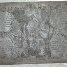 Arte: GUATEMALA 1842 , MATRIZ , PLANCHA ORIGINAL DE GRABADO RELIGIOSO EN COBRE FIRMADA G.P. C.E.. Lote 87531064