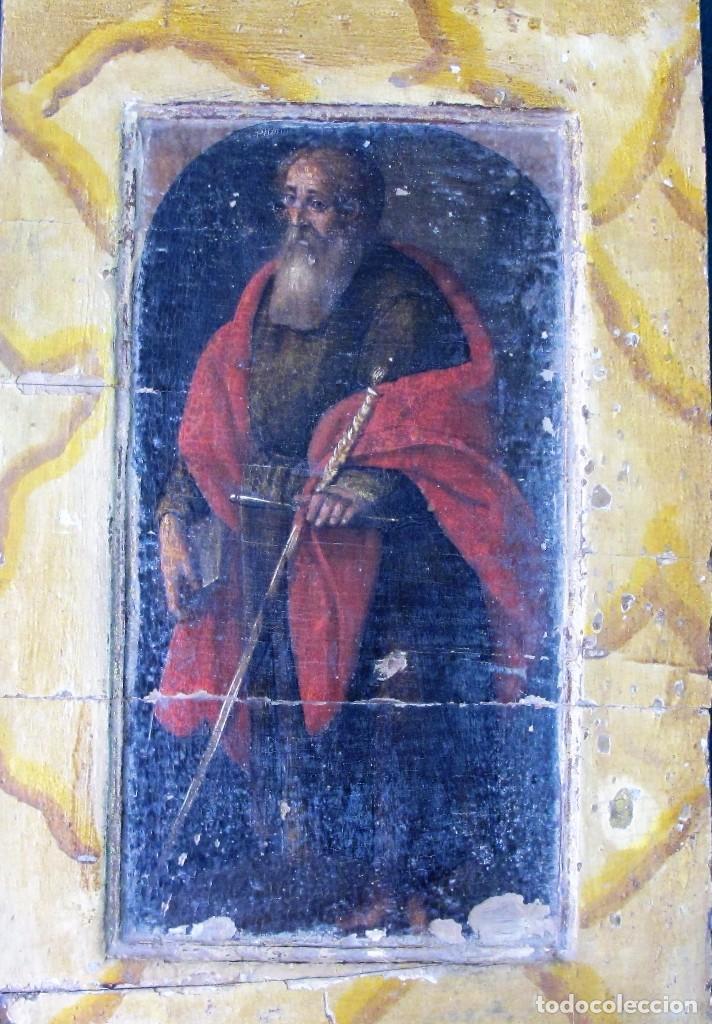 O/TABLA SAN PABLO SIGLO XVII-XVIII. RESERVADA (Arte - Arte Religioso - Pintura Religiosa - Oleo)