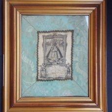 Arte: NUESTRA SEÑORA DE GUADALUPE GRABADO SOBRE SEDA - A. DE LA MUDA - MADRID 1788. Lote 87599856