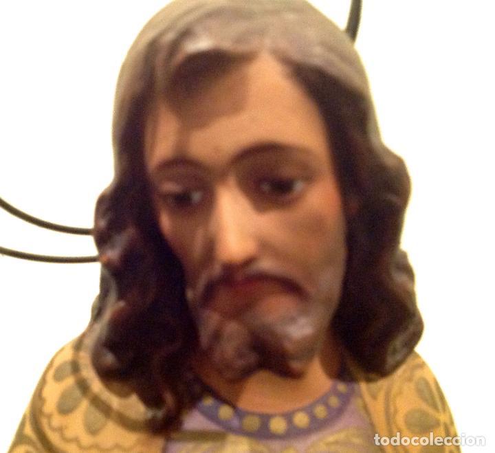 Arte: Antigua Figura Escultura Religiosa San José Con El Niño Medidas 46cmx17cm - Foto 8 - 42329965