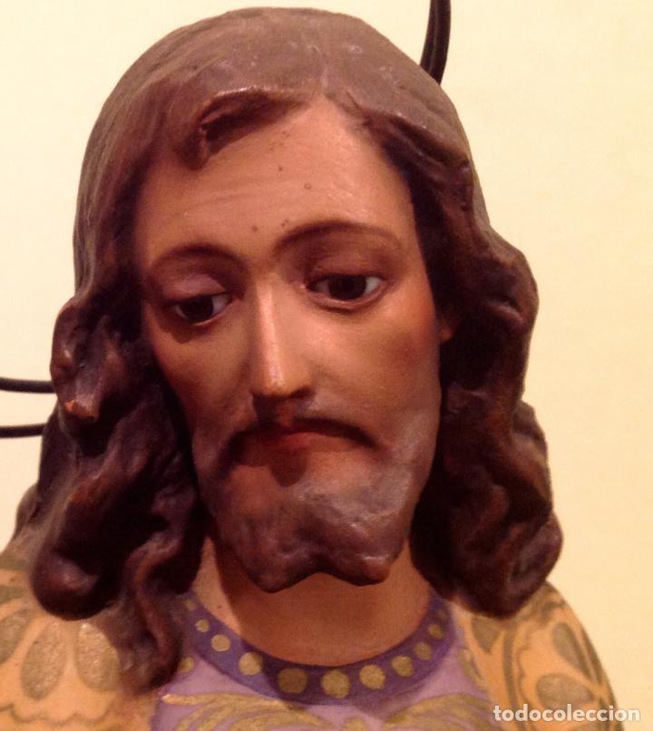Arte: Antigua Figura Escultura Religiosa San José Con El Niño Medidas 46cmx17cm - Foto 10 - 42329965