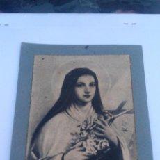 Arte: SANTA TERESA DE JESUS , AÑOS 20/30, GRABADO CON LICENCIA ECLESIASTICA. Lote 87629728
