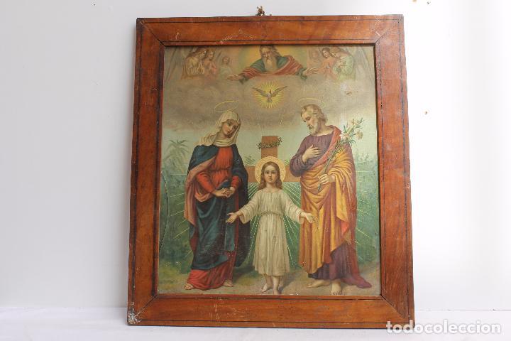 CROMOLITOGRAFIA RELIGIOSA ANTIGUA DEL SIGLO XIX (Arte - Arte Religioso - Litografías)
