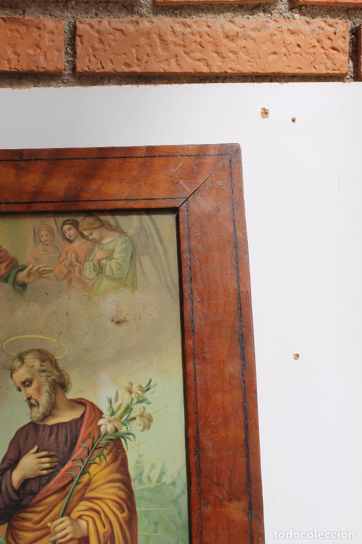Arte: CROMOLITOGRAFIA RELIGIOSA ANTIGUA DEL SIGLO XIX - Foto 3 - 87650056